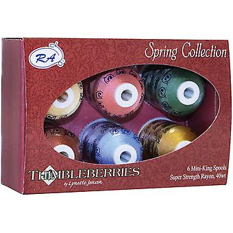 Thimbleberries Rayon Thread Collections 1000 Yards 6 Pkg Spring Ggr 2002