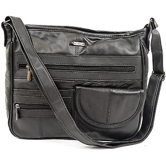 Ladies / Womens Soft Nappa Leather Practical / Formal / Work Handbag / Shoulder Bag