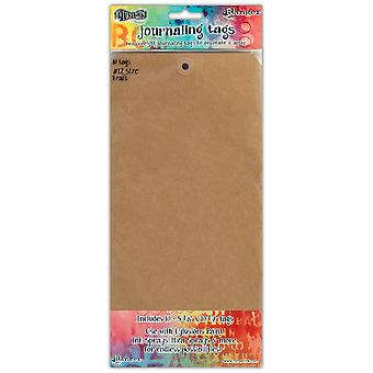 Dylusions Journal de Dyan Reaveley Tags Kraft/Pkg-10 #12 DYATAGS-47810