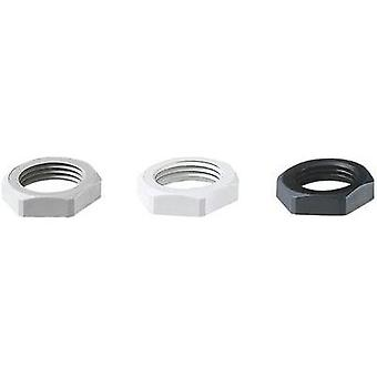 Locknut M25 Polyamide Black (RAL 9005) Jacob 1 pc(s)