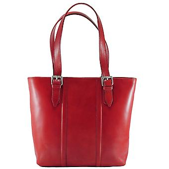 CTM elegant genuine leather woman Shopper bag made in italy