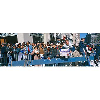 Parade for 1998 World Series Champions NY Yankees New York Poster Print