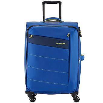Travelite kite 4-roller soft luggage trolley suitcase L 75 cm