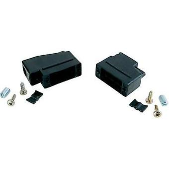 D-SUB housing Number of pins: 37 Plastic 180 ° Black Conec 165X10469XE 1 pc(s)