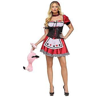 Dronningen af hjerter Deluxe Alice i Eventyrland kvinder kostume
