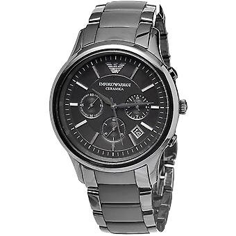 Emporio Armani AR1452 mat sort Ceramica Chronograph Watch