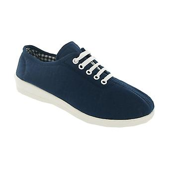 Mirak Womens Bounty Canvas Shoes Textile PVC Lace Up Fastening Ladies Footwear