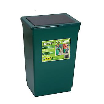 Garden Bin Seat Storage Chair Trash Plastic Green