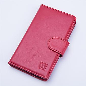Book wallet + stylus for Alcatel Pixi 4 (5.5) OT-5048 - Red