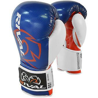 Rival boksning RB7 Fitness + krog og løkke taske handsker - blå/rød/hvid
