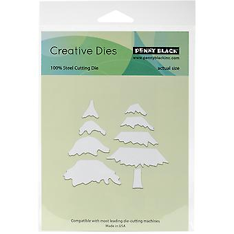 Penny Black Creative Dies-Snowy Layered Tree, 3