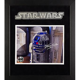 Star Wars - Signed R2-D2 Kenny Baker Movie Photo - Framed Artist Series