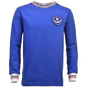 Portsmouth 1960s-1970s Retro Football Shirt