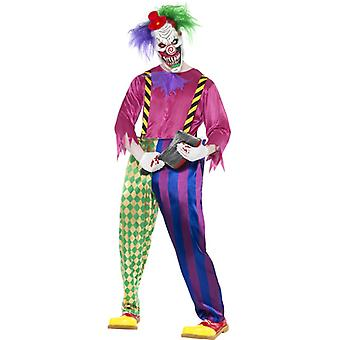 Costume da clown assassino clown sega orrore pagliaccio Kolorful