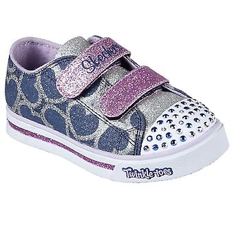 Skechers Sparkle Glitz Girls Toddler Canvas Shoes
