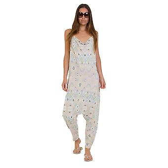 Jersey Jumpsuit - Aztec Grey Drop Crotch Lightweight Stretch Relaxed Fit Playsui