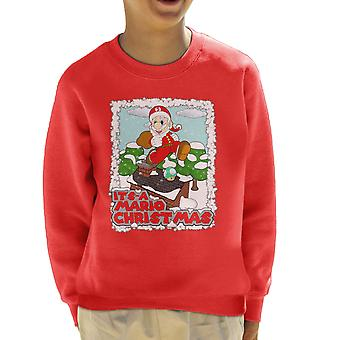 Its A Mario Chirstmas Super Santa Kid's Sweatshirt
