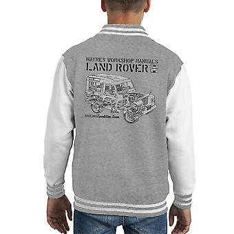 Haynes Owners Workshop Manual Land Rover Overland zwarte Kid's Varsity Jacket