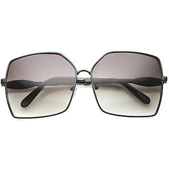 Womens Square Sunglasses With UV400 Protected Gradient Lens