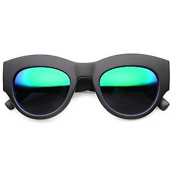 Fet ram Flash spegel Womens Fashion Couture solglasögon