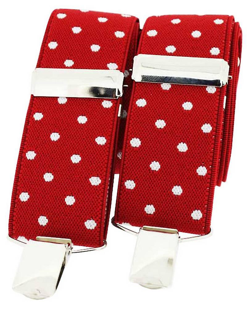 David Van Hagen Classic Fashion Brace - Red/White