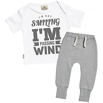 Spoilt Rotten Passing Wind Baby T-Shirt & Joggers Outfit Set