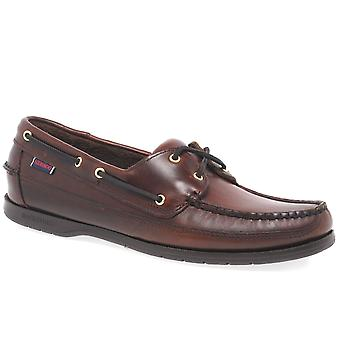 Sebago Schooner Brown Oiled Waxy Boat Shoe