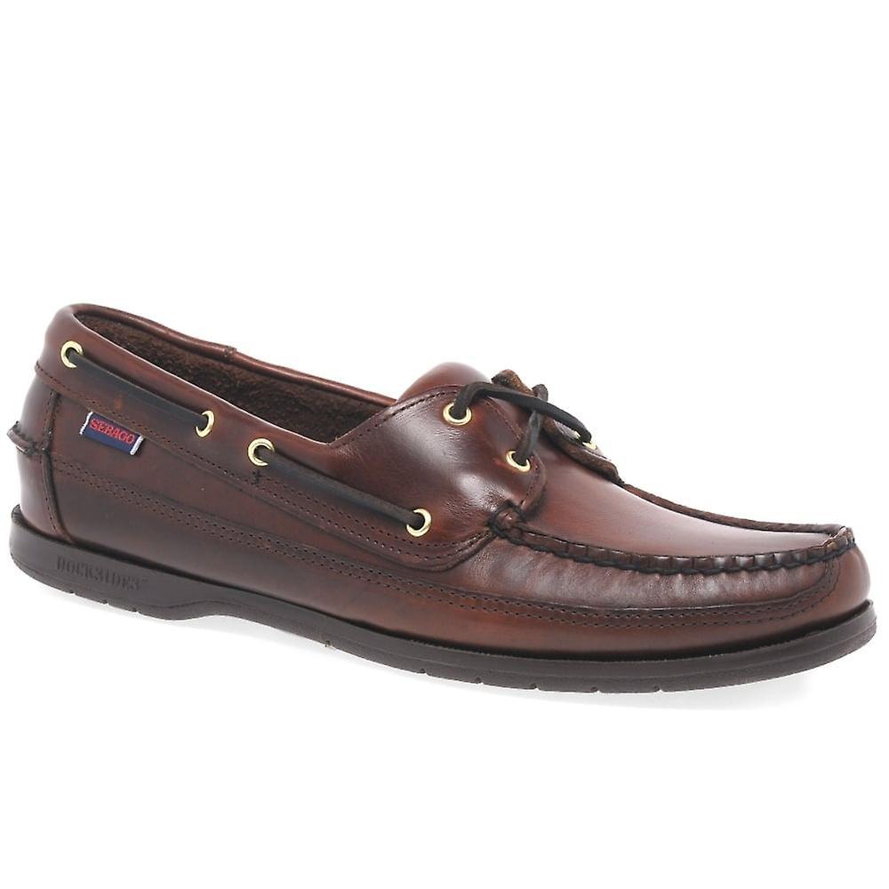 Sebago Schooner Brown oliato ceroso Boat Shoe