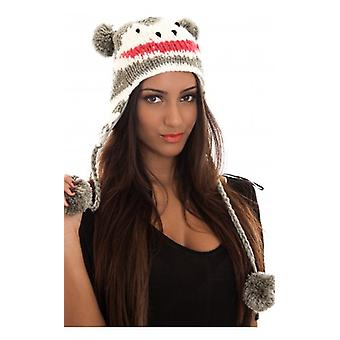 The Fashion Bible Bruge Pom Pom Hat In Grey