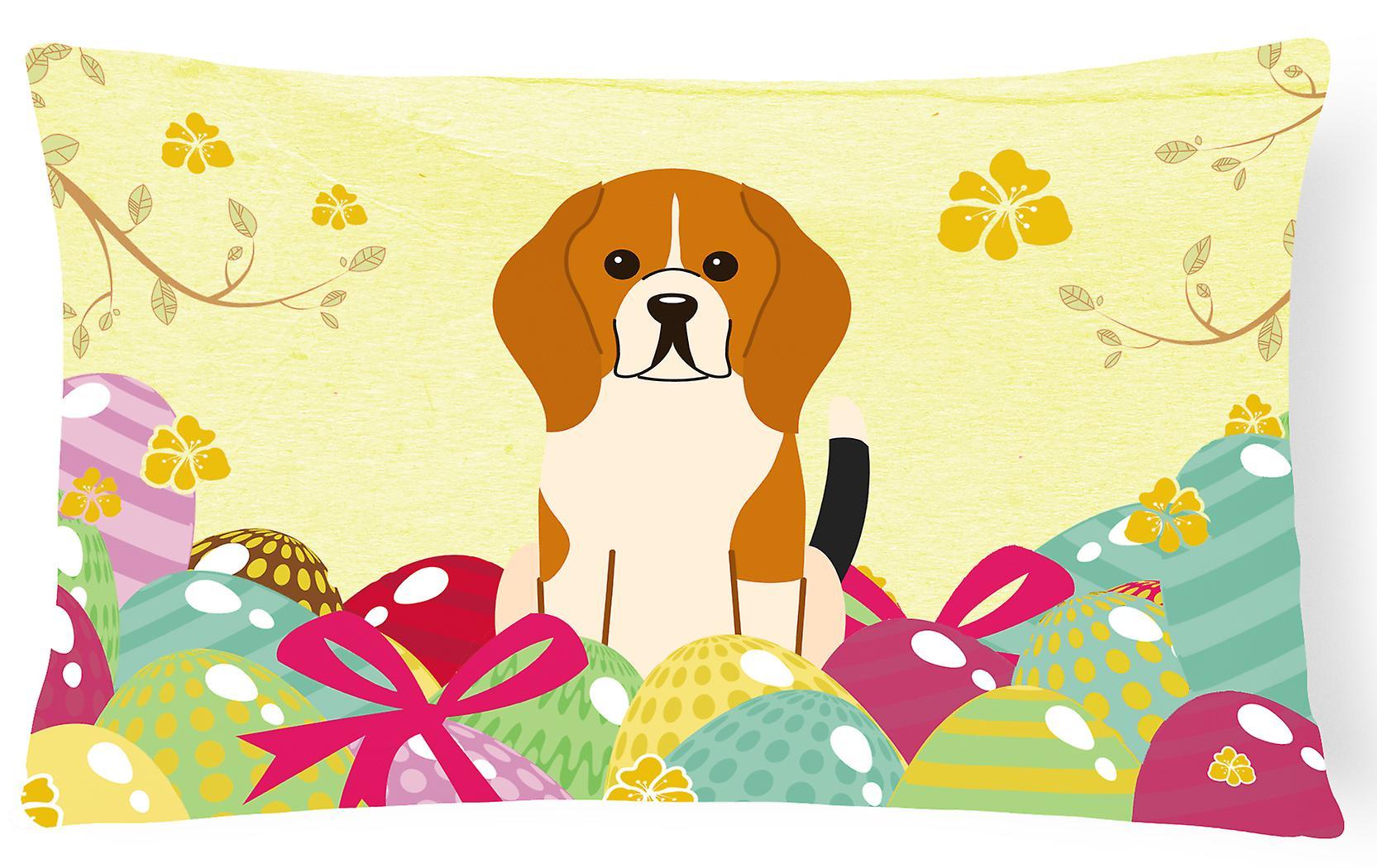 De Oeufs Tissu Oreiller Beagle Toile Décoratif Pâques Tricolore MpqSGzLVU