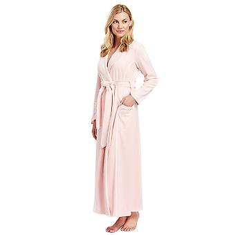 Feraud 3883035-10013 Women's Peach Pink Cotton Robe Loungewear Bath Dressing Gown