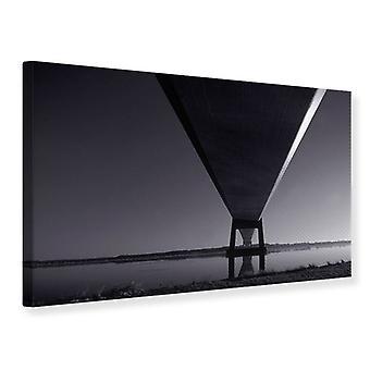 Canvas afdrukken de brug Over diep Water