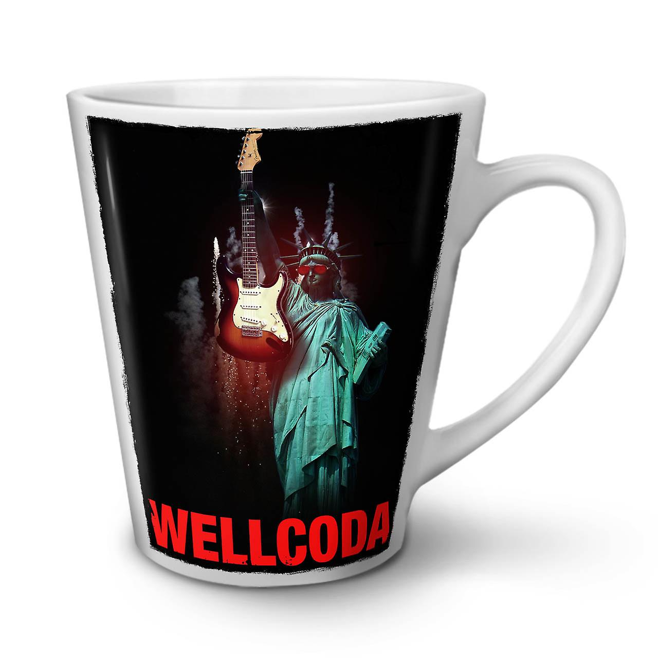 Freedom OzWellcoda Ceramic Guitar New Mug White Latte Coffee Tea 12 5j34LAR