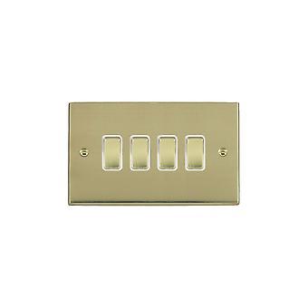 Hamilton Litestat Cheriton Victorian Polished Brass Rkr 2 Way 4g 10AX PB/WH