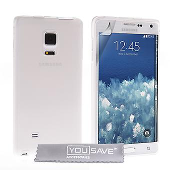 Yousave accessoires Samsung Galaxy Note bord Gel sillicone - Clear