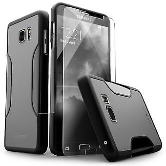 SaharaCase Galaxy S6 Edge Plus caja gris, clásico paquete de Kit de protección con ZeroDamage® vidrio templado
