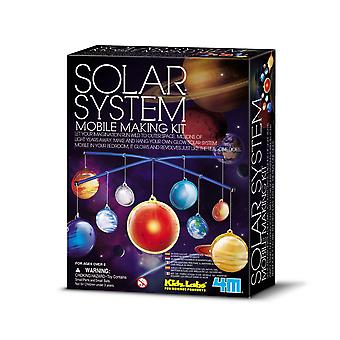 Glow In The Dark Solar System Mobile Making Kids Craft Kit | Outer Space Crafts
