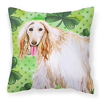 Afghan Hound St Patrick's Fabric Decorative Pillow