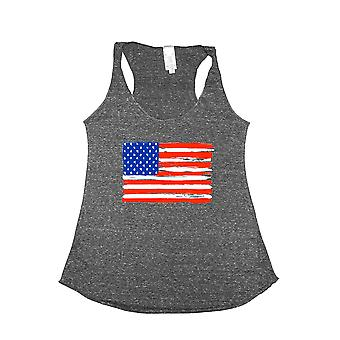 Women's USA Flag Tri-Blend Tank Top Painted Pride