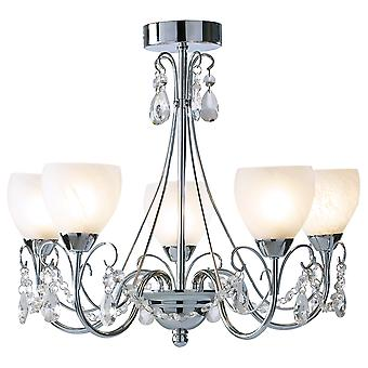 Crawford 5 Lighting Pendant Polished Chrome IP44