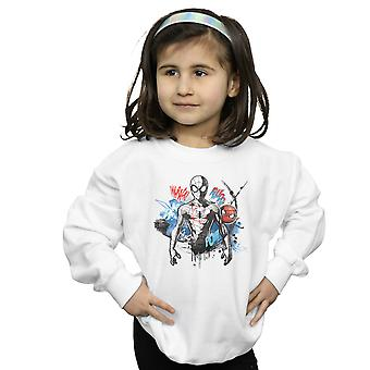 Marvel Girls Spider-Man Graffiti Pose Sweatshirt