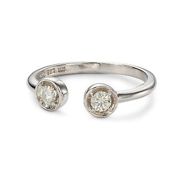 Forever Classic Round 3.25mm Moissanite Two Stone Ring