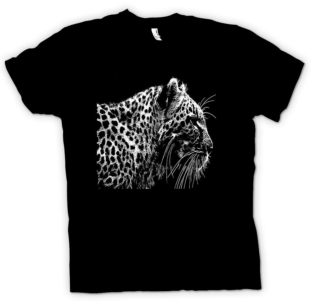 Mens T-shirt - Leopard  And White Photo