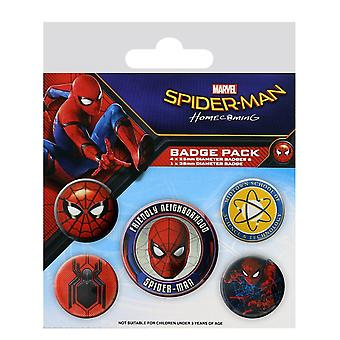 SPIDERMAN Homecoming Pack of Official Badges 5 Pin Badge Set