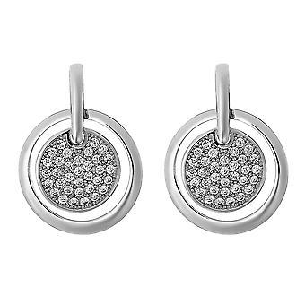 Orphelia Silver 925 Earring 2 Circles With Zirconium  ZO-7354