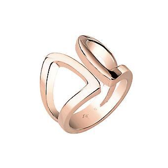 Йоп женщин кольцо из нержавеющей стали розовое современные формы JPRG00010C1