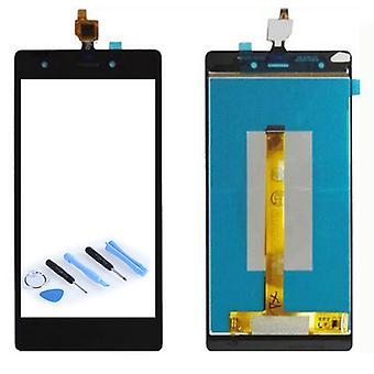 Display LCD komplet enhed sort for WIKO papirmasse 4 G