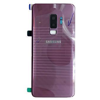 Cubierta de batería Samsung GH82-15652B para Galaxy S9 plus G965F + pegamento del cojín púrpura morado lila nuevo