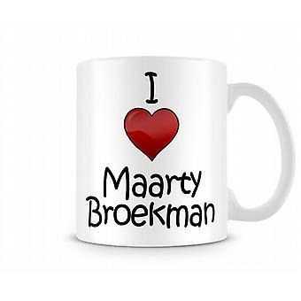 Amo la tazza stampata Maarty Broekman