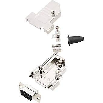 encitech DTSL09-S-JSRG+DMS-K D-SUB receptacle set 45 ° Number of pins: 9 Solder bucket 1 Set